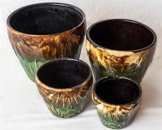 4 ceramic planters