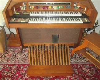"LOWREY ORGAN 53"" wide by 45"" High x 30"" out"
