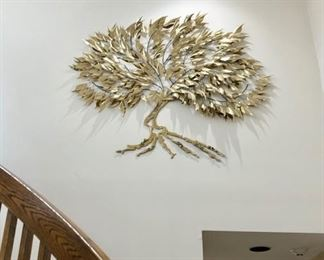 Large brass Tree Of Life sculpture by Ray Berger