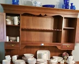 China Hutch 400.00 (with nice spoon rack)  Johnson Brothers Dish Set 350.00