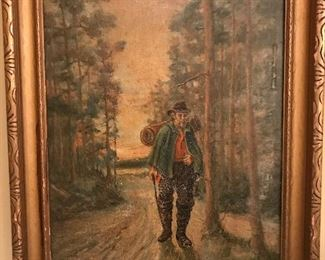 This 1928 Alfred Addy Original Oil on canvas has a very interesting palate and great colors.  The artists work is highly sought after in today's market.