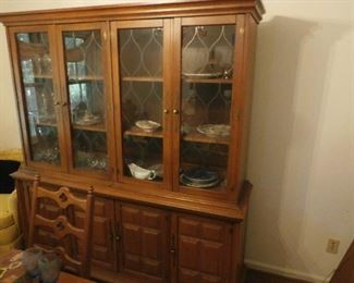 #73 Two Piece Top and Bottom China Cabinet with Glass Front