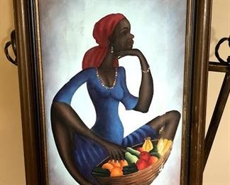 African Fruit Bowl painting
