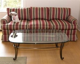 Charles Stewart 7 ft Sofa as is 85.00 Coffee Table 45.00 - Call Diane to Purchase 205 799-4166