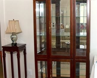 Display Cabinet 145.00 - 77 1/2 in tall x 15in deep x 36 in wide - Call Diane to Purchase 205 799-4166