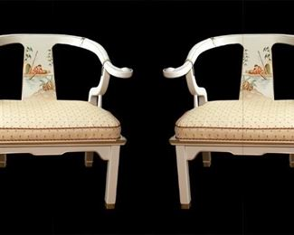 Horseshoe Oriental Chair by Pam Bolick 175.00 each - Call Diane to Purchase 205 799-4166