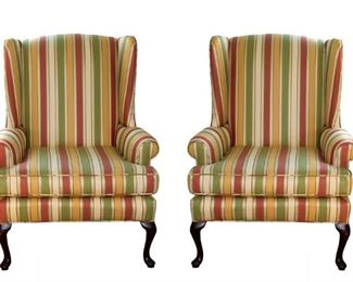 Pair Wing Back Chairs 165.00 - Call Diane to Purchase 205 799-4166