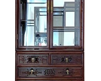 Korean Display Cabinet - 78 in tall x 17 in Deep x 36 in wide - CALL DIANE TO PURCHASE 205 799-4166 - 345.00