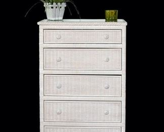 Wicker Chest of Drawers - Royalty by Gebu -  47 in tall x 18 in deep x 30 in wide - 85.00 - Call Diane to Purchase 205 799-4166