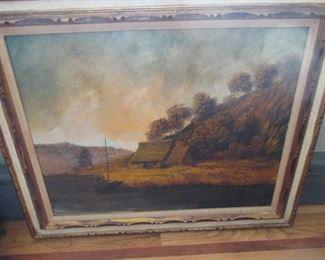 D. Gibbs Oil Framed