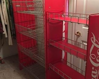 001 Coca Cola Wire Storage Shelves
