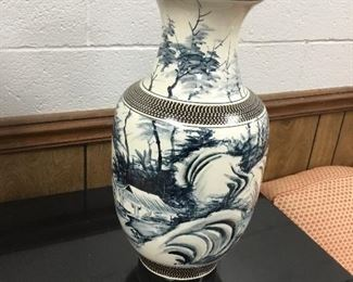 medium Chinese blue & white vase, a much larger one is also available for sale