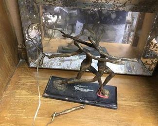 bronze tabletop sculpture