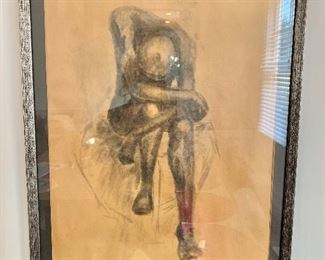 $80 - Original charcoal drawing