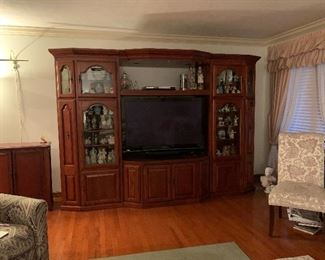 "Entertainment Center - three piece - 82""H x 118""W x 29'D - $1,000.00"