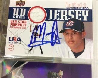 Manny Machado Signed Prospect Card
