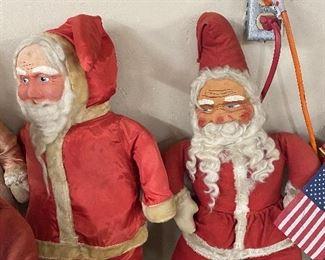 Early Mask Face Santas