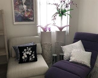 Furniture to relax in - there are two matching  loungers