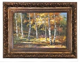 Lot 30 Fall Landscape Painting By Francis Orville Libby