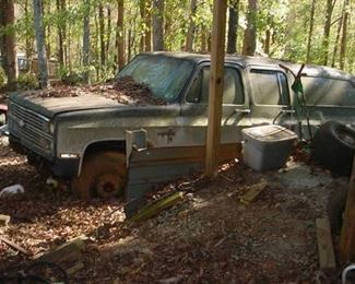 Old Suburban...Filled with tires