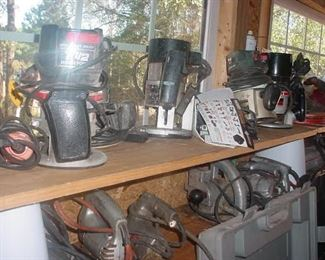Routers, routers, and more routers...jig saws, and more