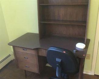 mid century Hooker desk w/bookcase