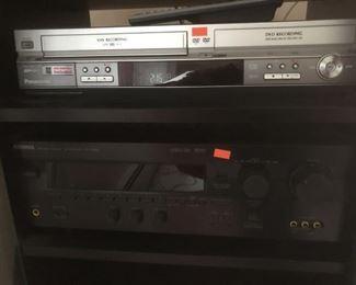 VHS DVD machine - Yamaha receiver