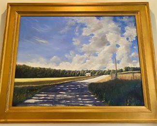 """Lewis Copt original oil """"Last Summer"""""""