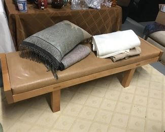 Coach (?) Leather bench