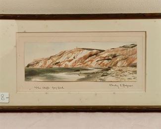 Watercolor, Gay Head Cliffs, Rogers