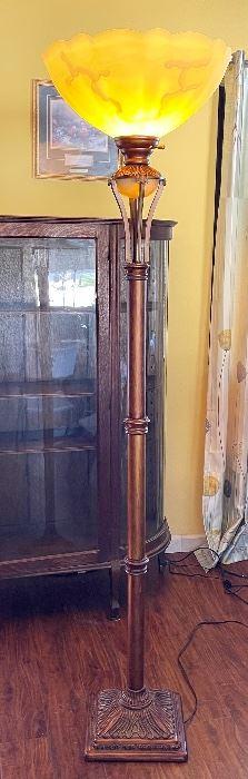 Torchiere Floor Lamp74in H x 18in Diameter
