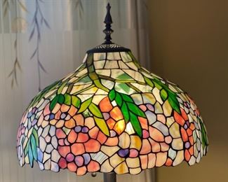 Tiffany Style Floor Lamp Cherry Blossom Stained Glass Shade66in H x 18in Diameter