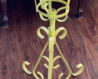 2pc Vintage MCM Wrought Iron Plant Stands PAIR28in H x 15x15inHxWxD