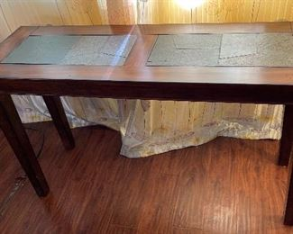 Wood Slate Insert Sofa Table29x50x17inHxWxD