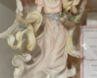 Seraphim Classics  Ashley with Bluebird of Happiness Angel Sculpture12x7x7inHxWxD