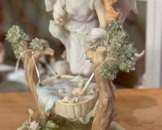 Seraphim Classics Leanne Nurturing Heart Angel Sculpture8x7x4.5inHxWxD