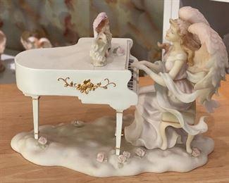 Seraphim Angelica Heavenly Serenade Angel Sculpture6.5x9.5x5.5HxWxD