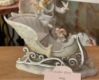 Seraphim Haley Joyful Soul Angel Sculpture7.5x6x8inHxWxD