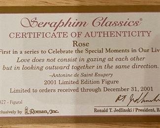 Seraphim Rose Celebration Series w/ Pedestal Angel Sculpture10x5x3inHxWxD