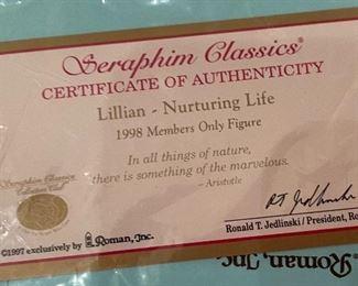 Seraphim Lillian Nurturing Life Angel Sculpture8x5x4inHxWxD