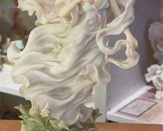 Seraphim Victoria Embrace Life Music Box Angel Sculpture9.75x5.5x4inHxWxD