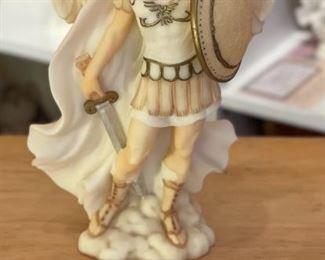 Seraphim Michael Victorious  Angel Sculpture8x5x3inHxWxD