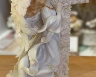Seraphim Teresa Easter Prayer Angel Sculpture8x6.5x3.5inHxWxD