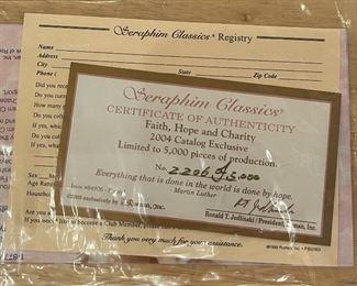 Seraphim Faith Hope Charity Angel Sculpture8x5x4inHxWxD