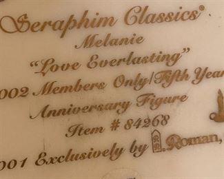Seraphim Melanie Love Everlasting Angel Sculpture6x6x5.5inHxWxD