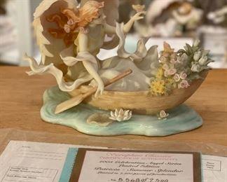 Seraphim Patricia Summer Splendor Angel Sculpture5x7.5x4.5inHxWxD