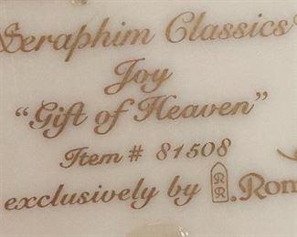Seraphim Joy Gift of Heaven Angel Sculpture6x5.5x5inHxWxD