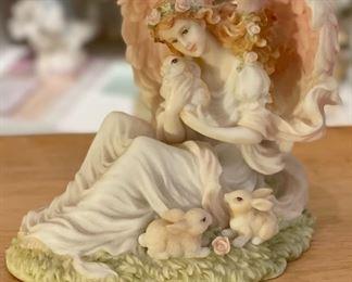 Seraphim Eve Tender Heart Angel Sculpture4.5x5.5x4.5inHxWxD