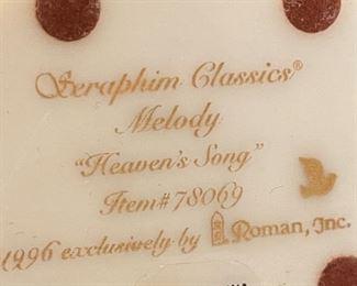 Seraphim Melody Heavens Song Angel Sculpture7.5x4.5x4inHxWxD