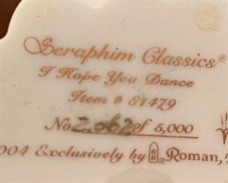 Seraphim I Hope You Dance Angel Sculpture7.5x5x4.5inHxWxD